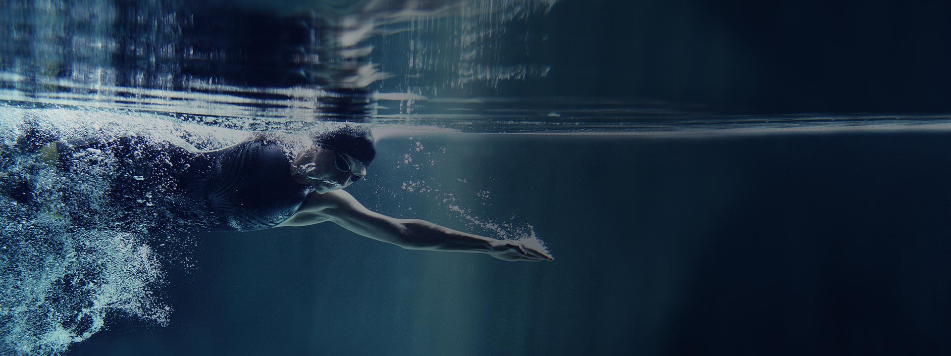 competitive swimmer underwater